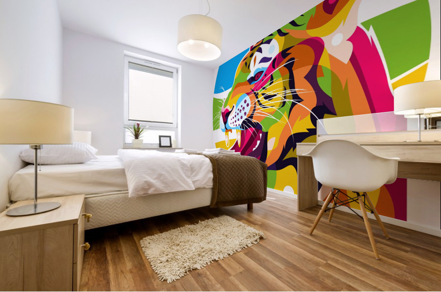 The Wild Tiger Mural print