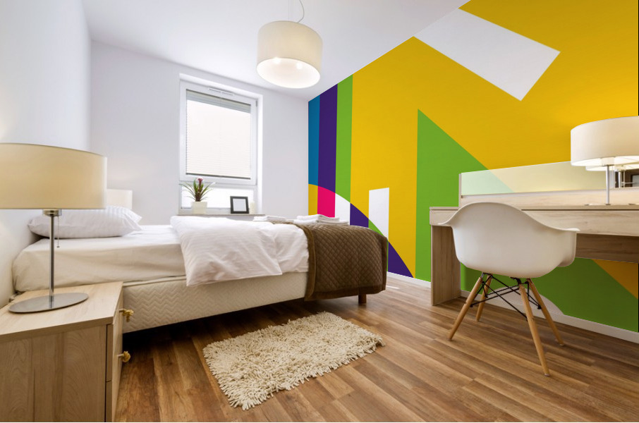 2 White Lines in Abstract Background Mural print