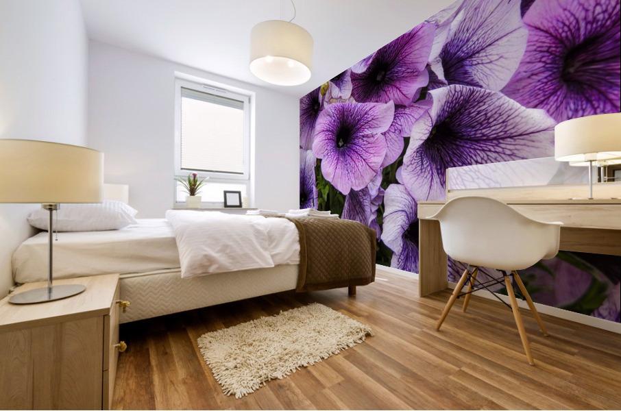 Purple Flower Mural print