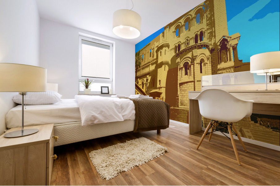 Dreams of Cannes France in Retro Behemian Style Mural print