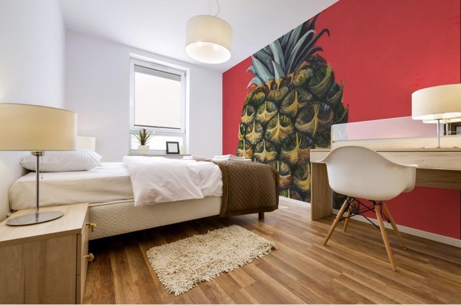 Pineapple  Mural print
