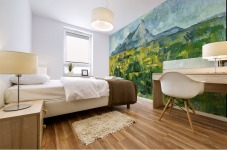 Mount St. Victiore by Cezanne Mural print