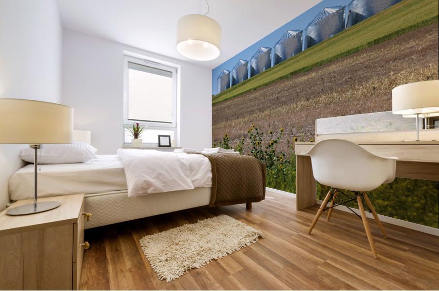 Grain Silos Mural print