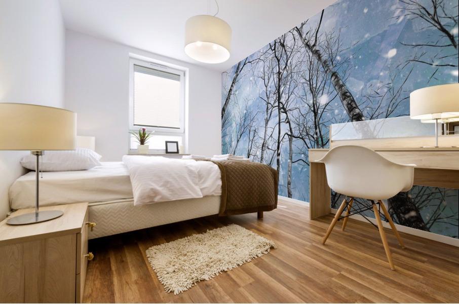Winter Trees  Mural print