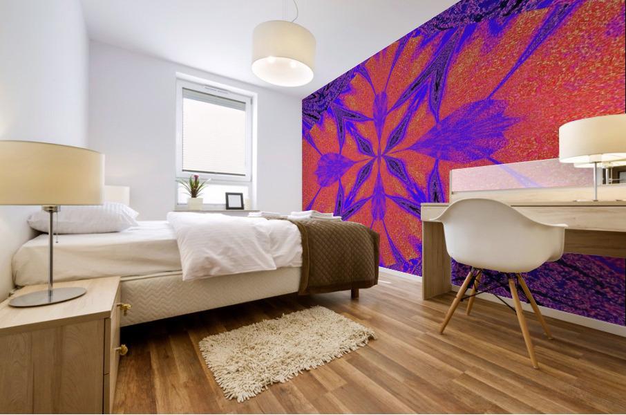 Purple Butterfly In Sunshine 1 Mural print