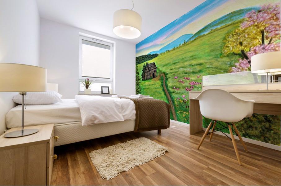 Sweet Little Home on Plains Mural print