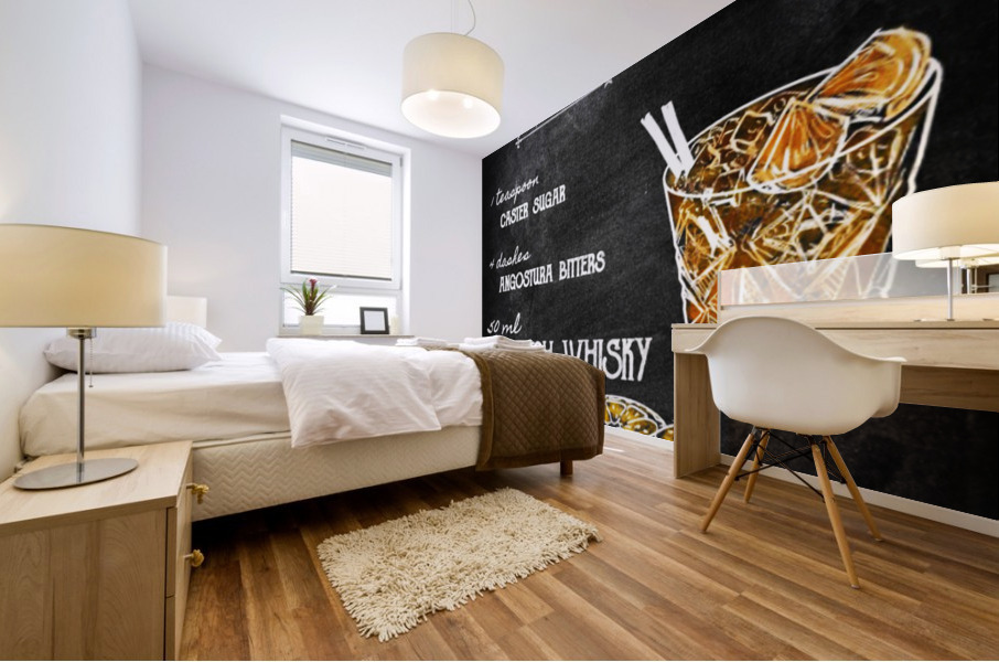 Whisky old fashioned Mural print