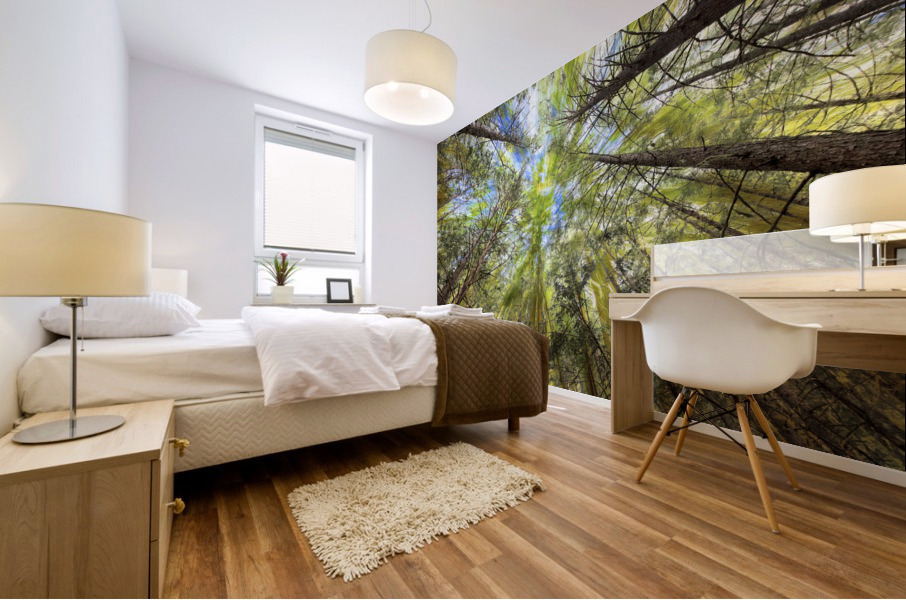 Forest Particles Mural print