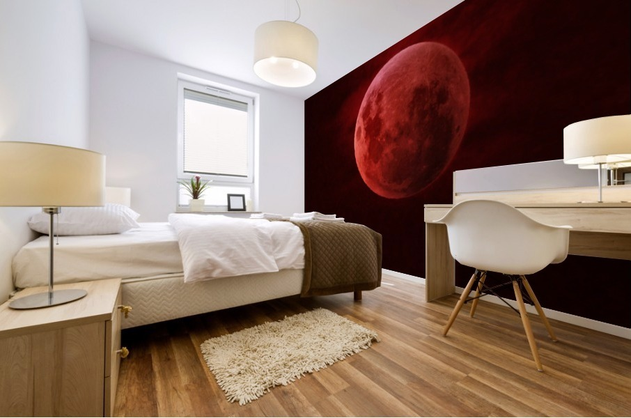 One Red Moon Mural print