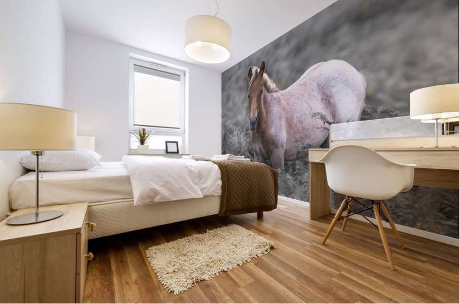 Wild Horses, New Forest Mural print