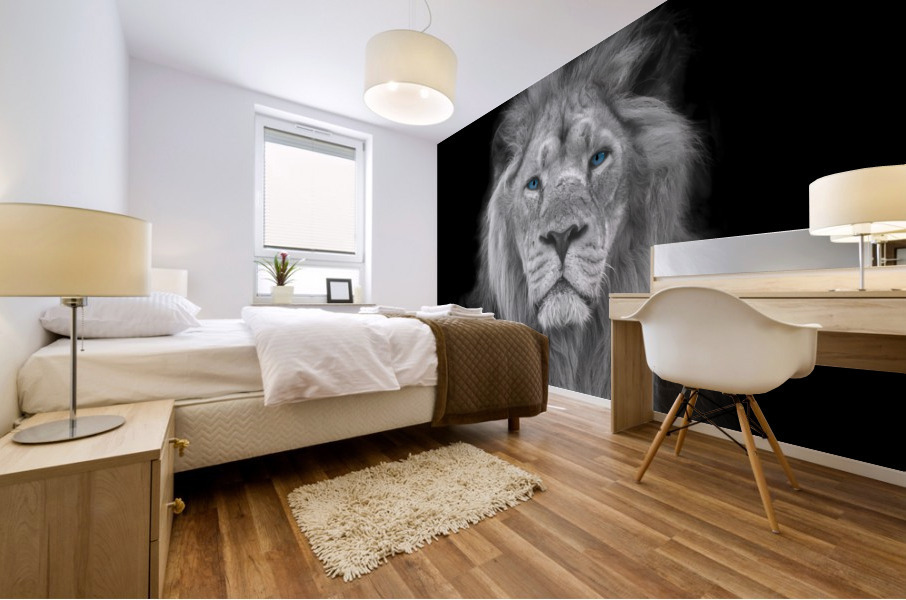 Lion face Mural print