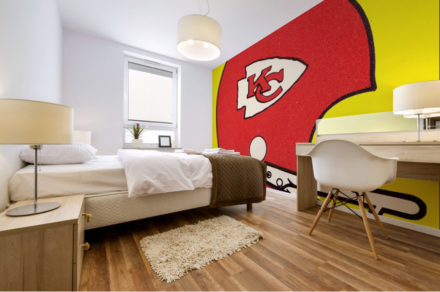 1982 Kansas City Chiefs Helmet Art Mural print