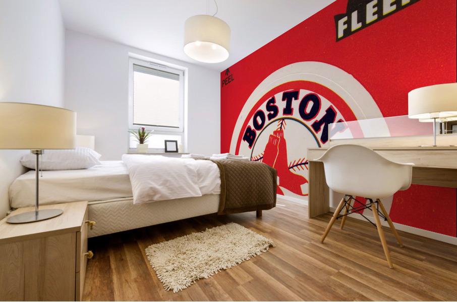 1981 Boston Red Sox Fleer Decal Art Mural print