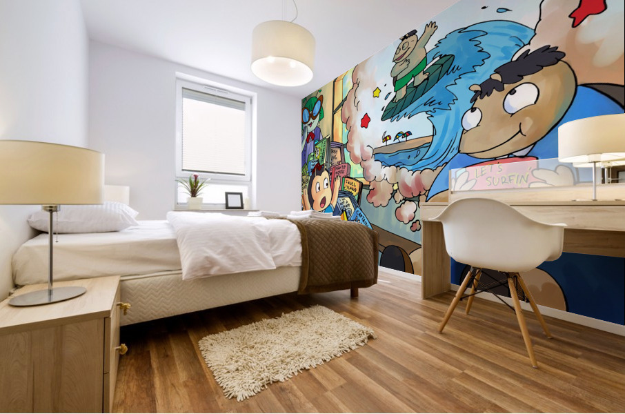 Library Daydreams 2 - Bugville Critters Mural print