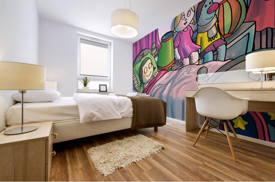 Dreaming  Mural print
