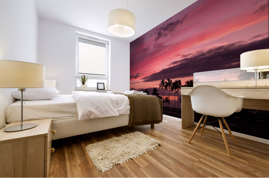 Ease into the Night Mural print