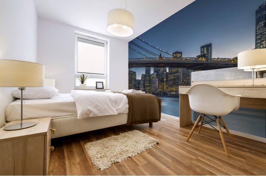 New York - Blue Hour over Manhattan Mural print