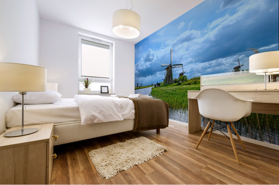 Windmills of the Netherlands 3 of 4 Mural print