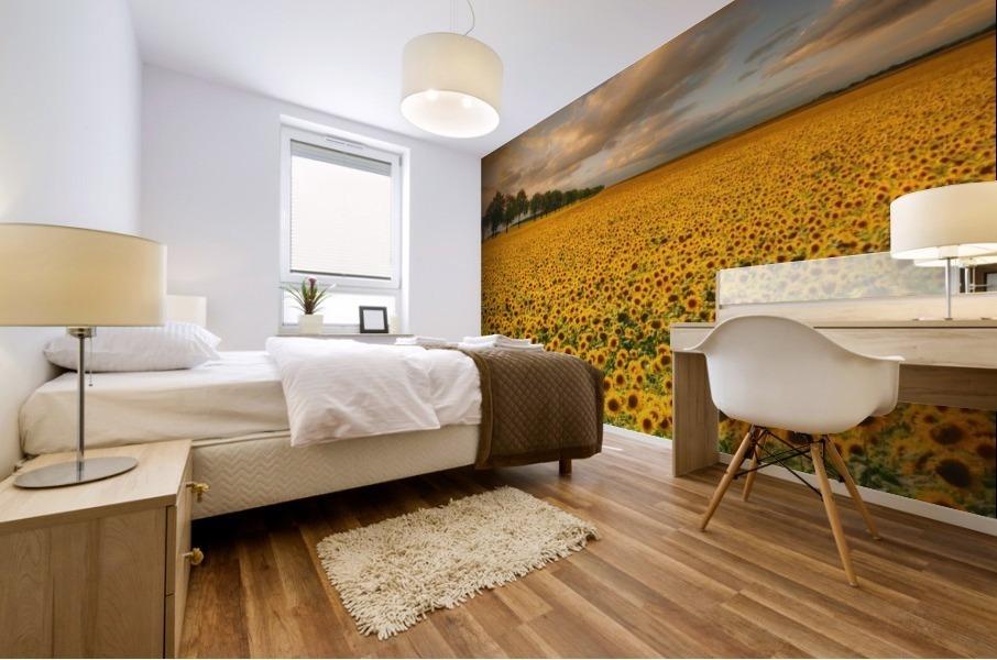 Sunflowers Mural print