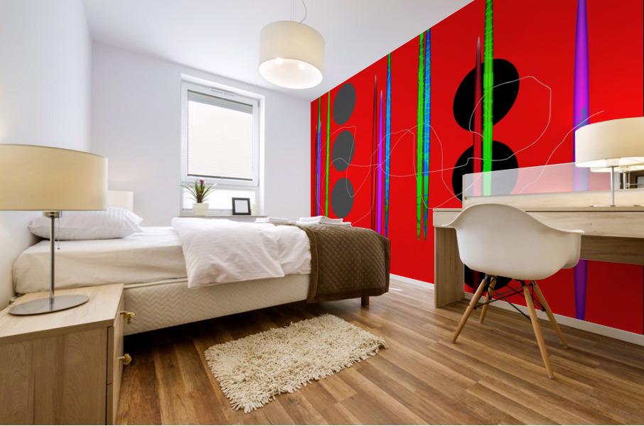 HorizonRedCircles Mural print