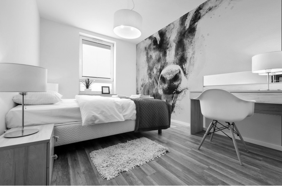 Dairy Cow Black and White Mural print