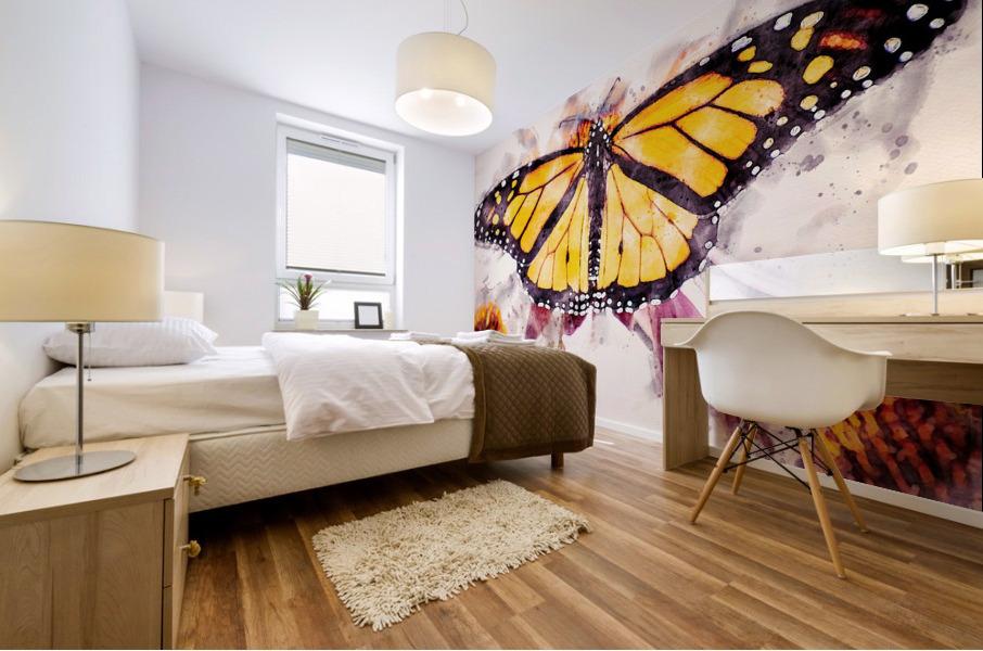 Monarch Butterfly Mural print
