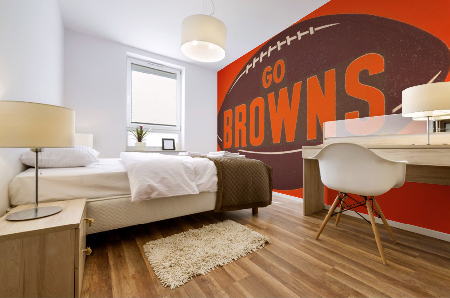 Vintage Cleveland Browns Football Art Mural print