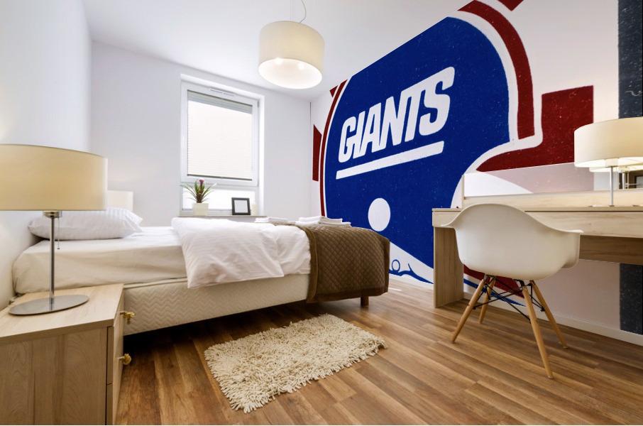 Retro New York Giants Helmet Art Mural print
