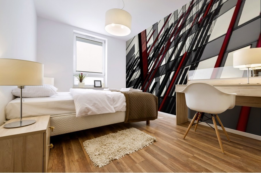 red lines by Gilbert Claes  Mural print