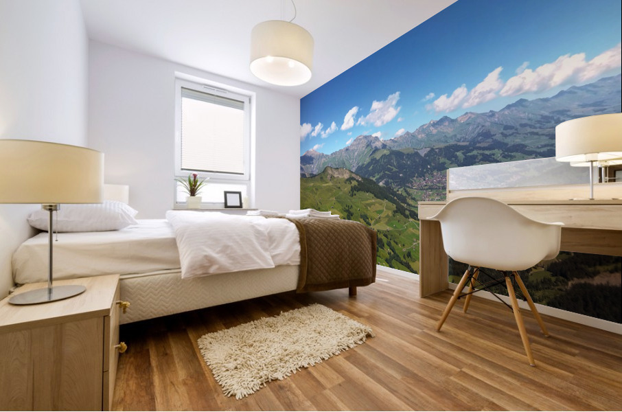 Swiss Highlands View to Forever Mural print