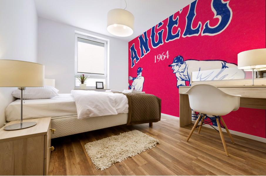 1964 Los Angeles Angels Baseball Art Mural print