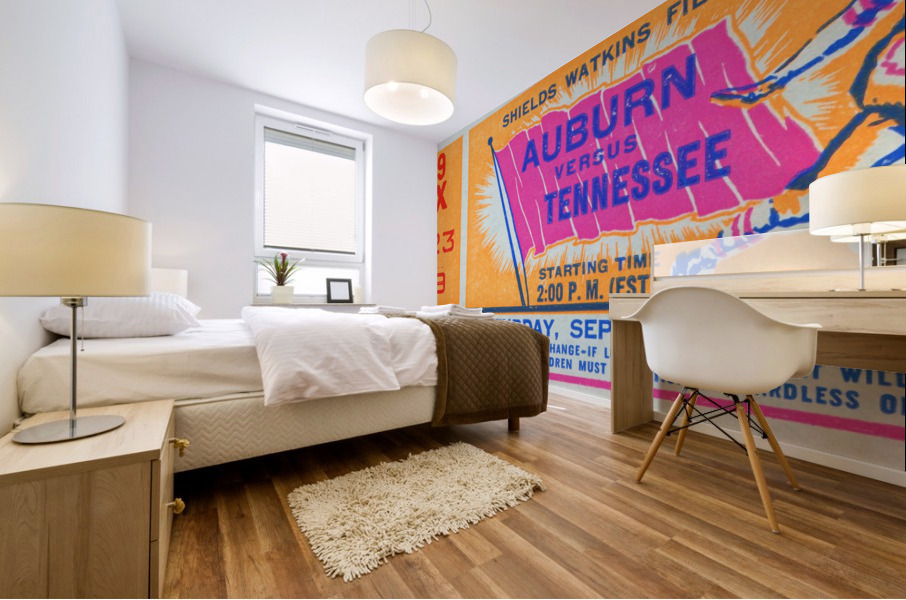 1961 Tennessee vs. Auburn Football Ticket Art Mural print