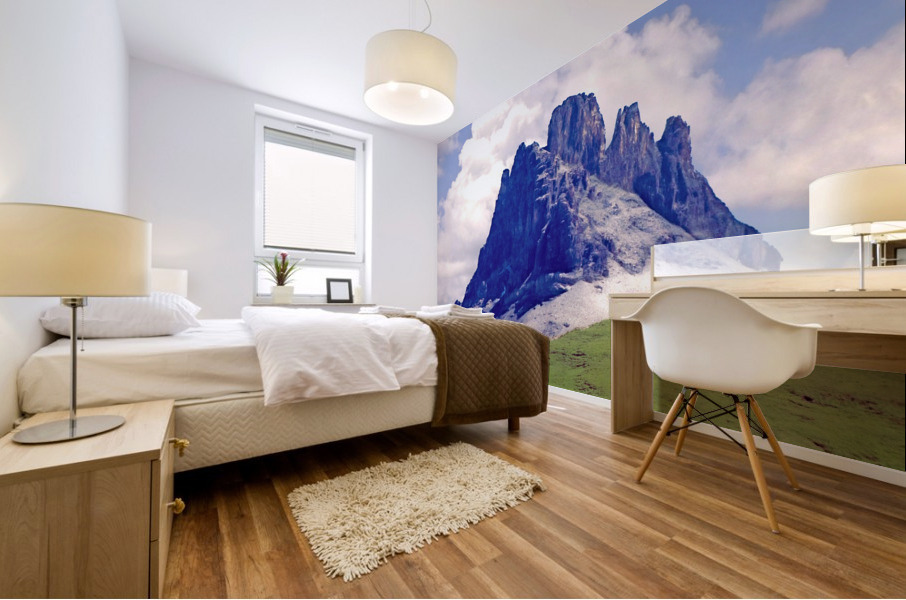 Mountain Peak in the Swiss Alps Mural print