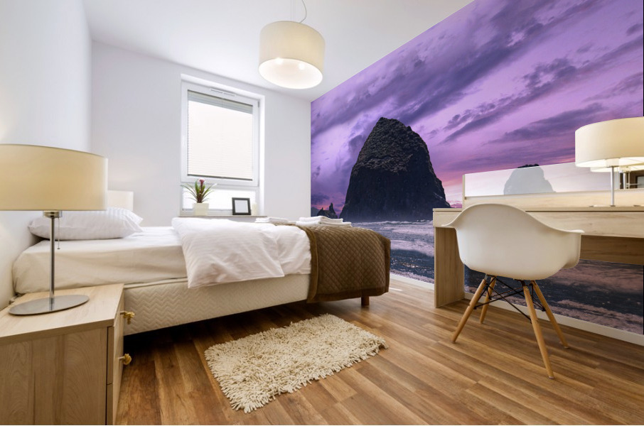 Cannon Beach at Sunset Mural print