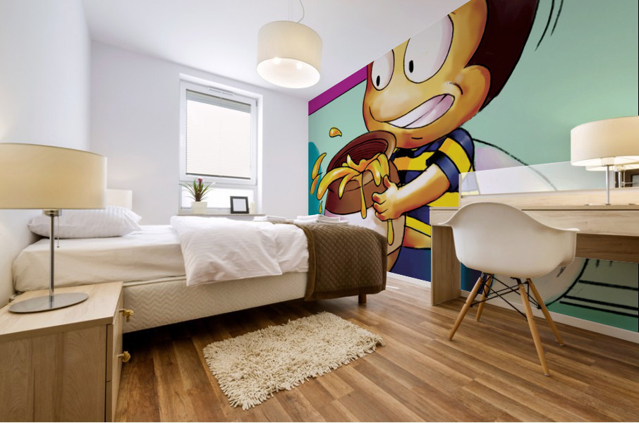 Be Careful with the Honey Buster Bee Mural print