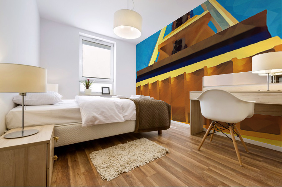 seattle space needle abstract Mural print
