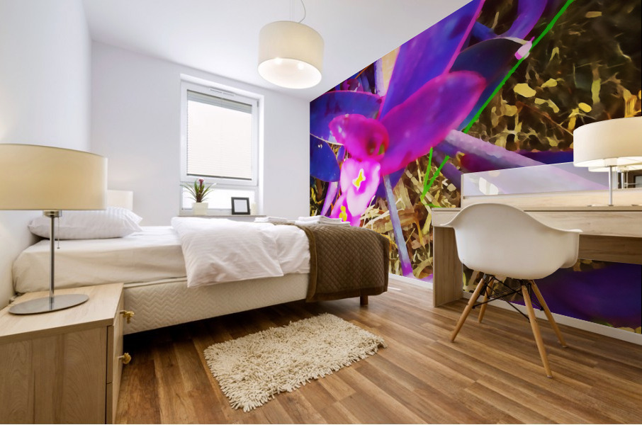 pink and purple Mural print