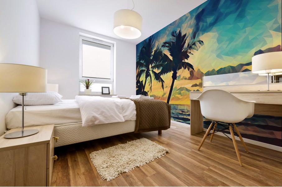 florida palm trees art Mural print