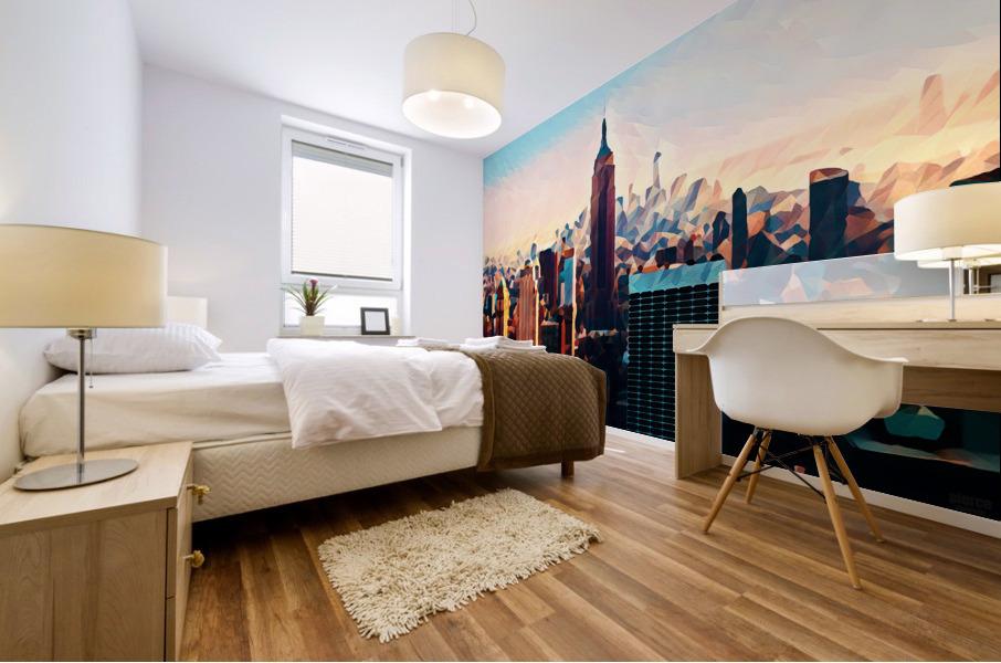 new york city skyline Mural print