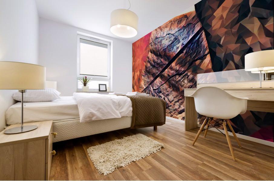 kitchen tiles morning greeting Mural print
