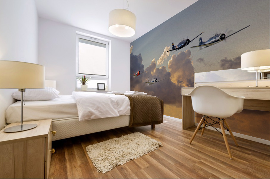 Four T 28 Trainers Mural print
