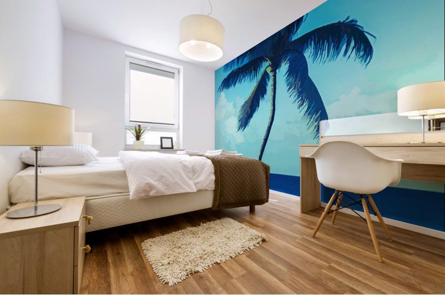 palm color 6 Mural print