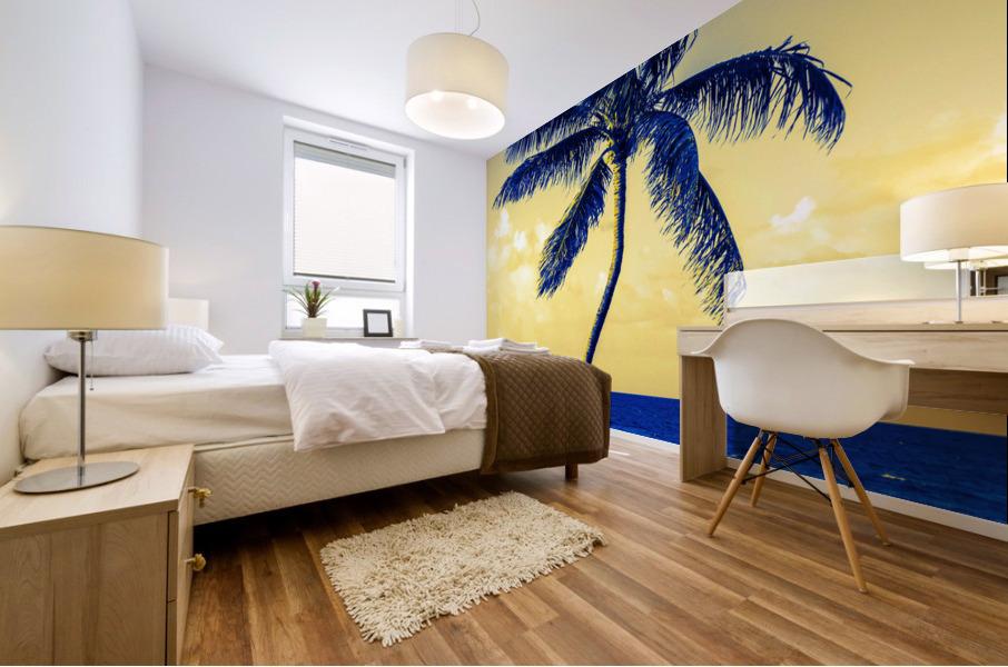 palm color 4 Mural print