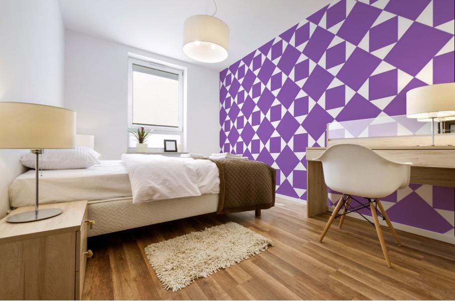 Purple Geometric Pattern Mural print