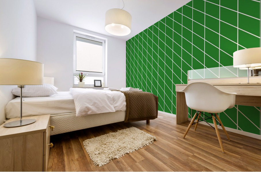 Green Checkers Pattern Mural print
