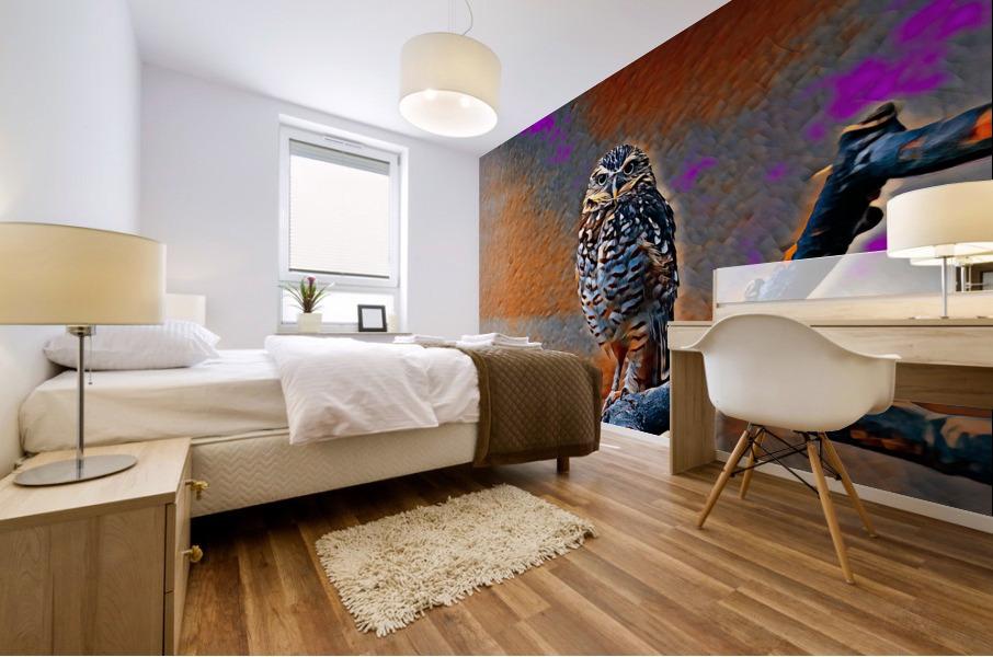 OWL - Stylized Mural print