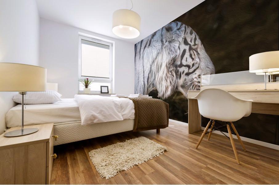 White Bengal Tiger 2 Mural print