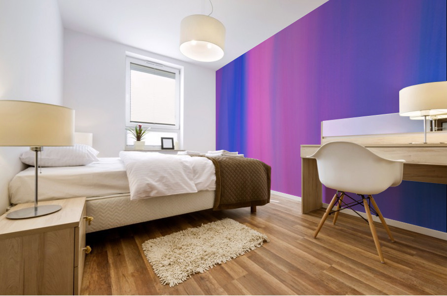 Purple Patterns Mural print
