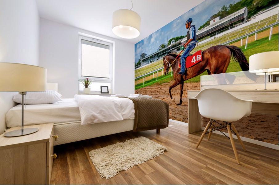 Racehorse04 Mural print