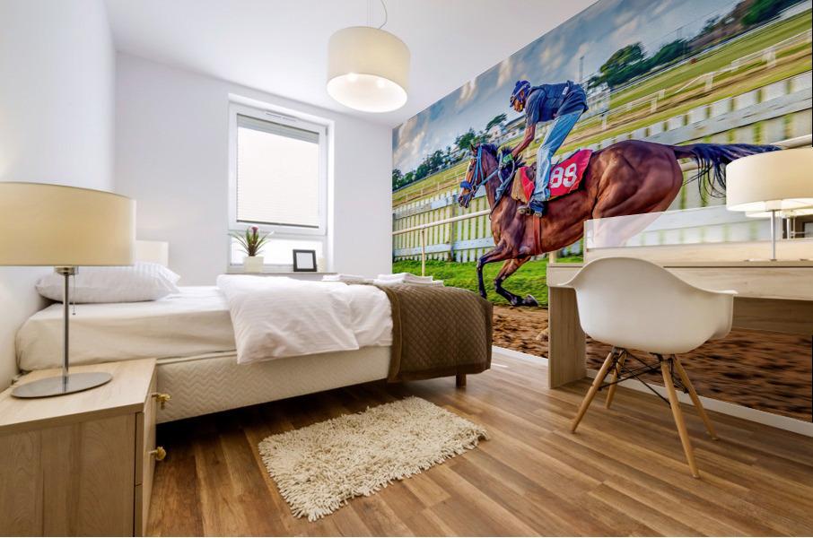 Racehorse09 Mural print